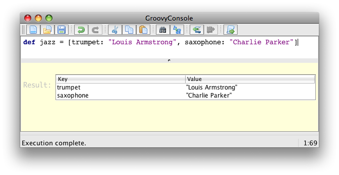 The Apache Groovy programming language - groovyConsole - the